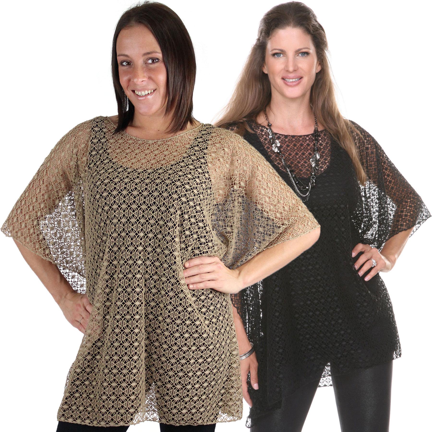 Poncho - Lace Knit 1109