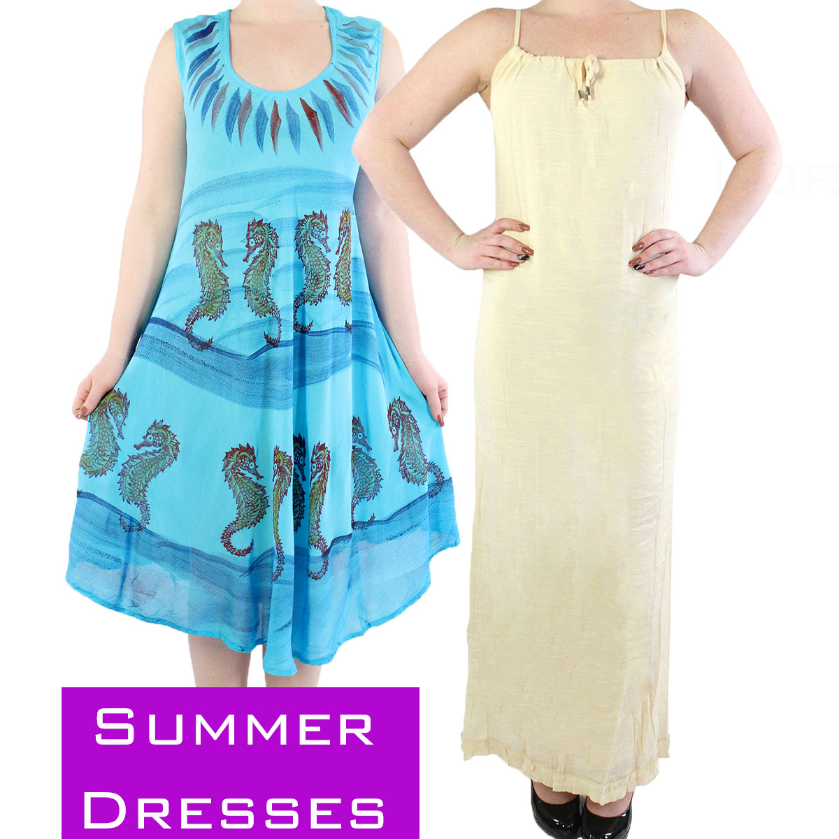 Summer Calf Length Dresses