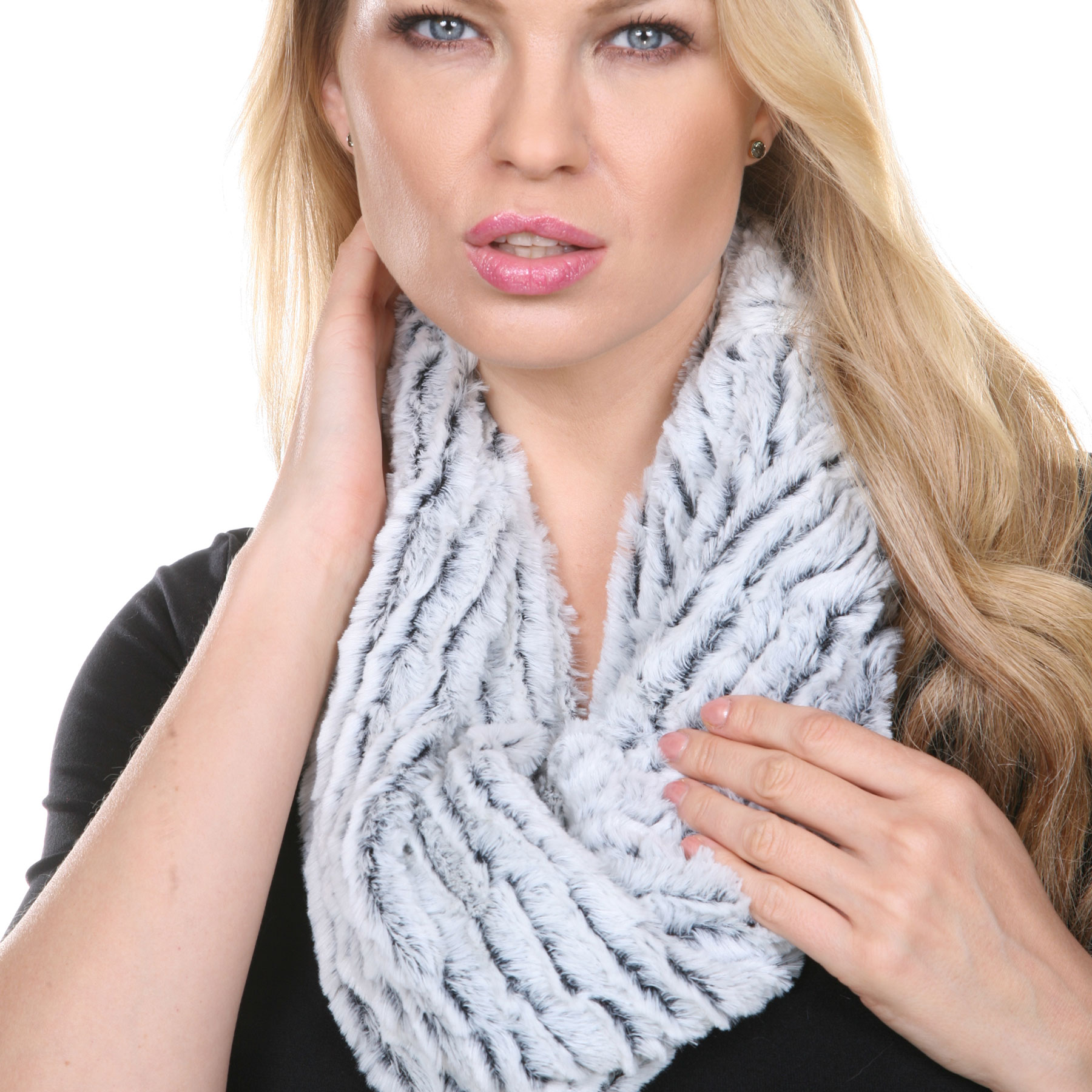 Infinity Scarves - Fur Two-Tone 8156*