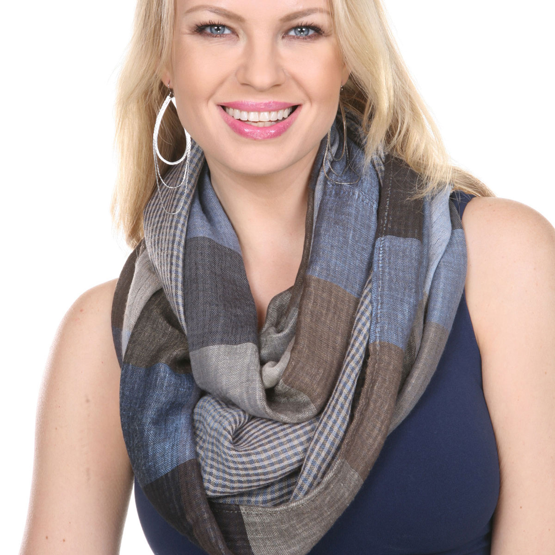 Infinity Scarves - Plaid 7339