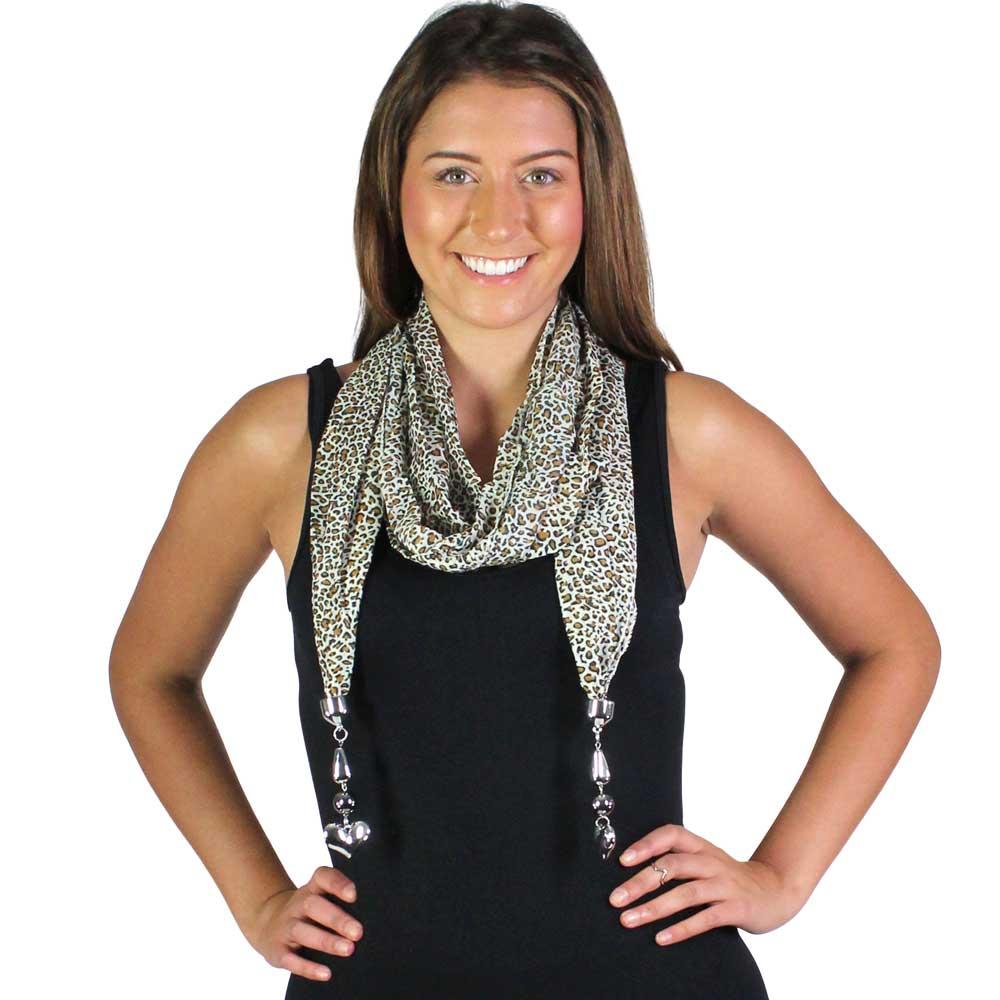 Oblong Scarves - Sheer w/ Hanging Pendants*