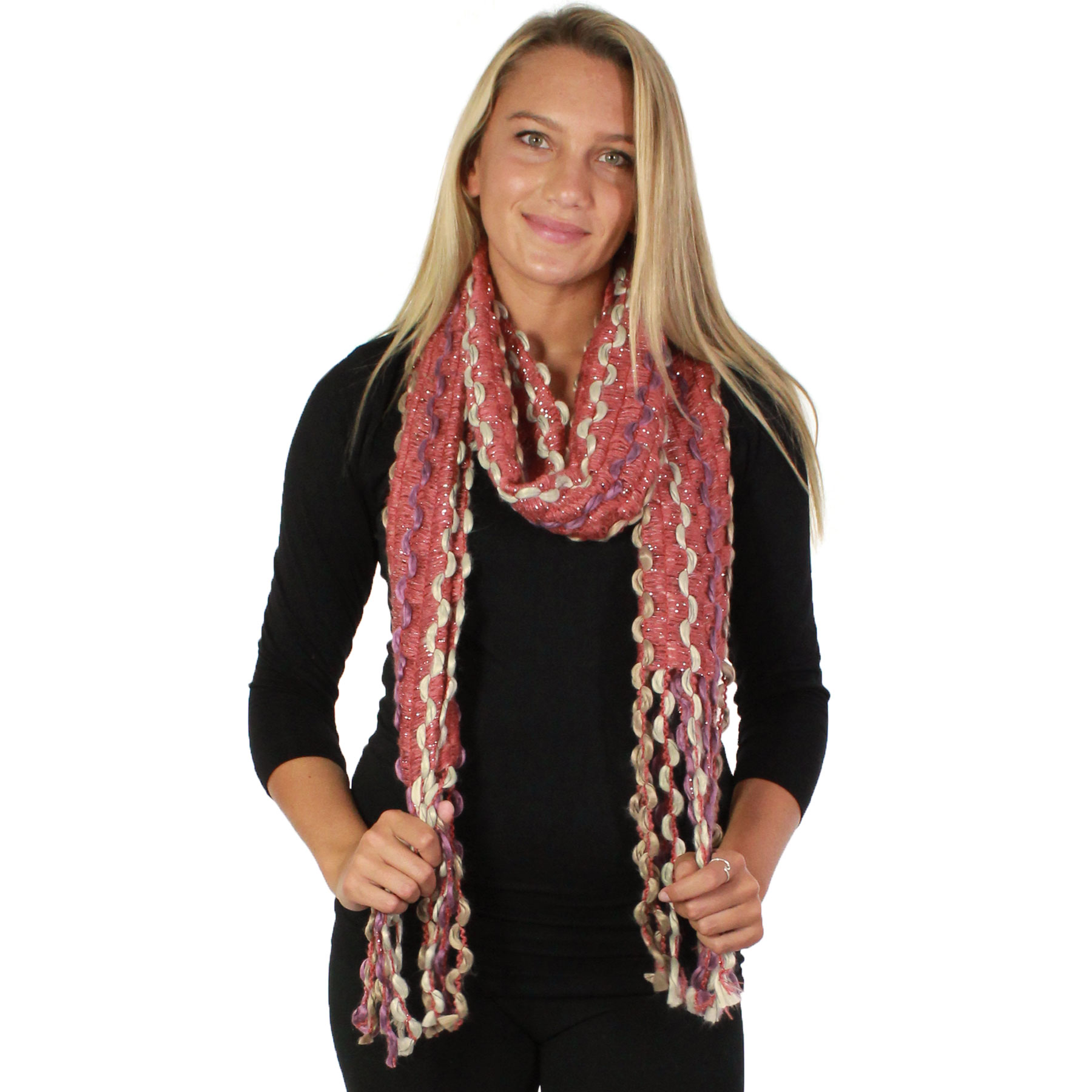 Oblong Scarves - Long Puffy Wave 2001