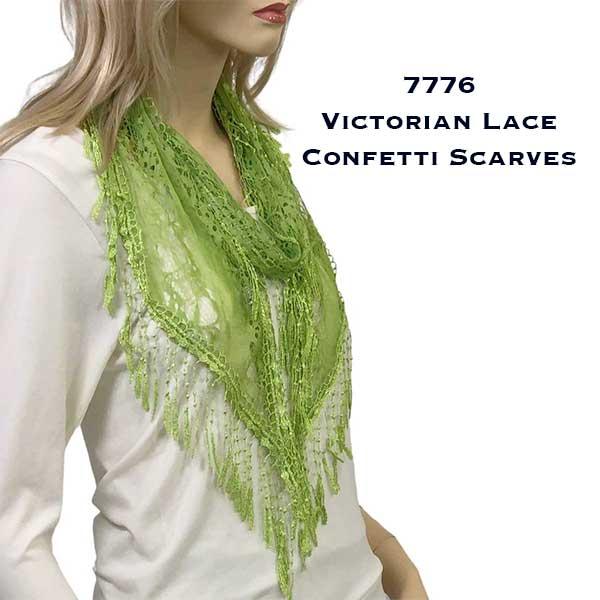 Oblong Scarves - Victorian Lace Confetti