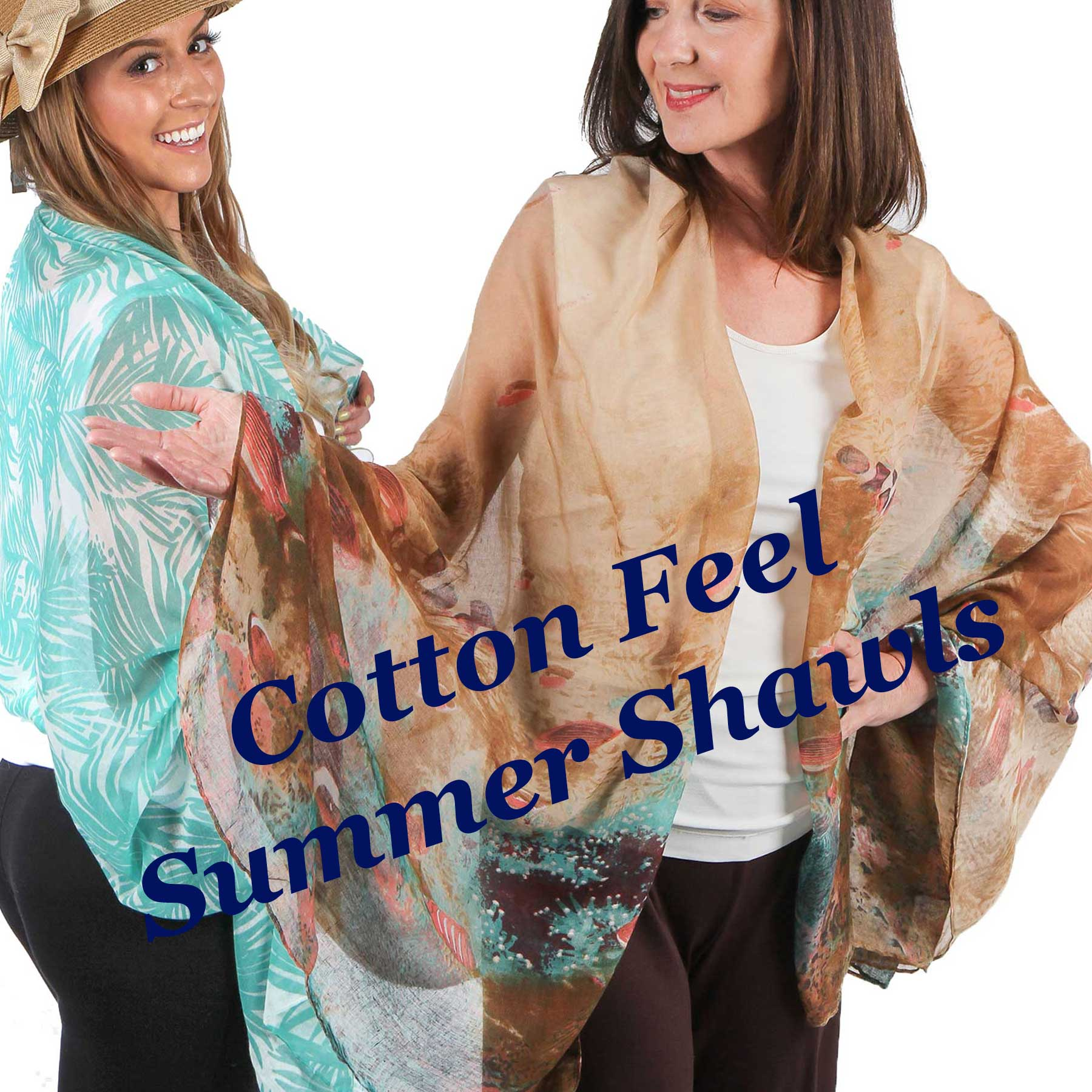 Cotton Feel Shawls