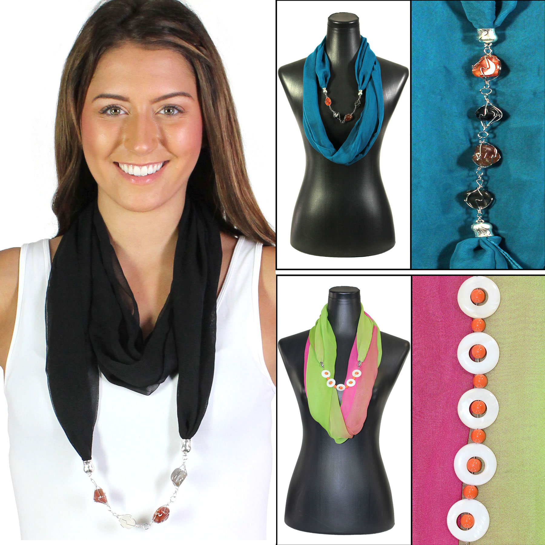 Jewelry Infinity Silky Dress Scarves