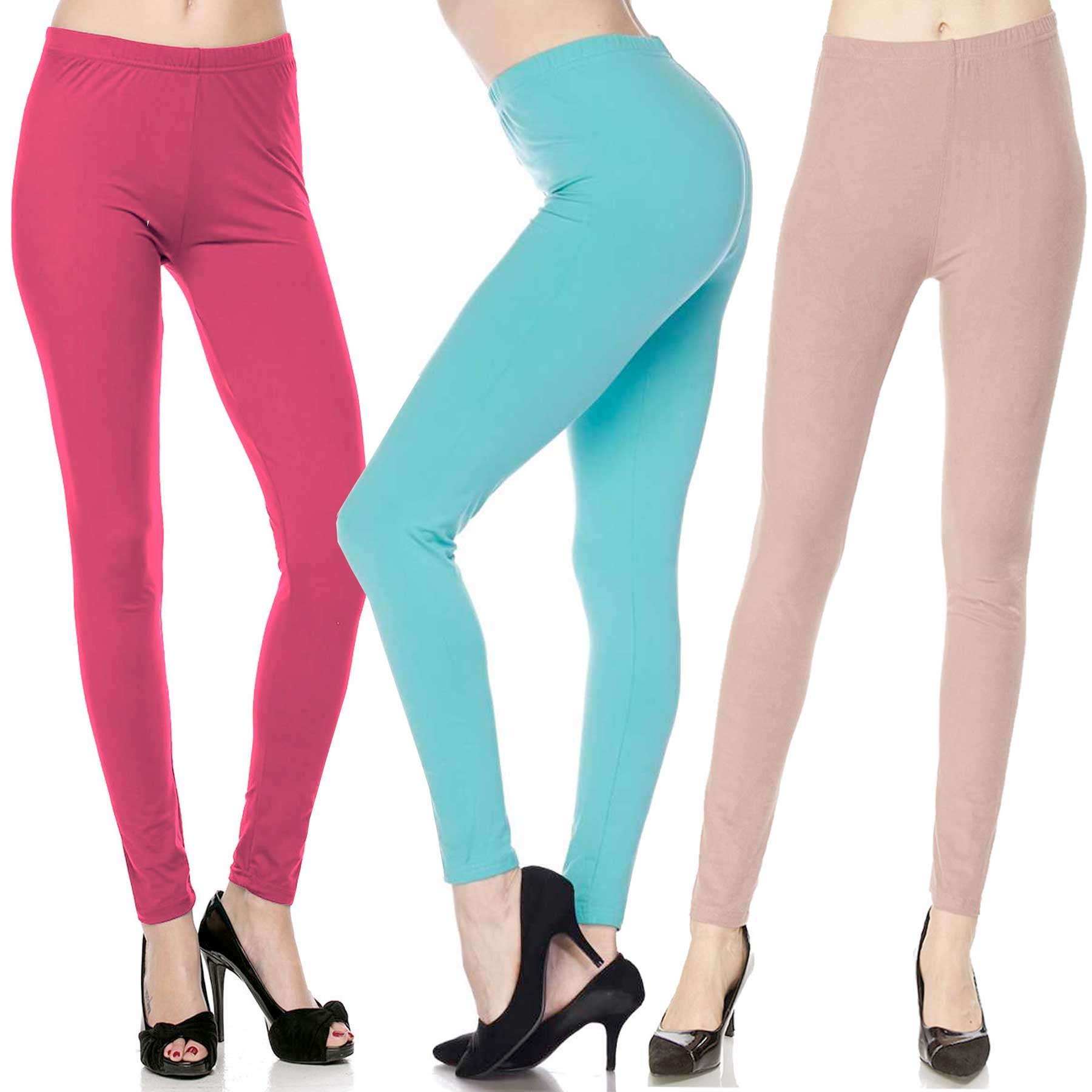 Brushed Fiber Leggings - Ankle Length Solids