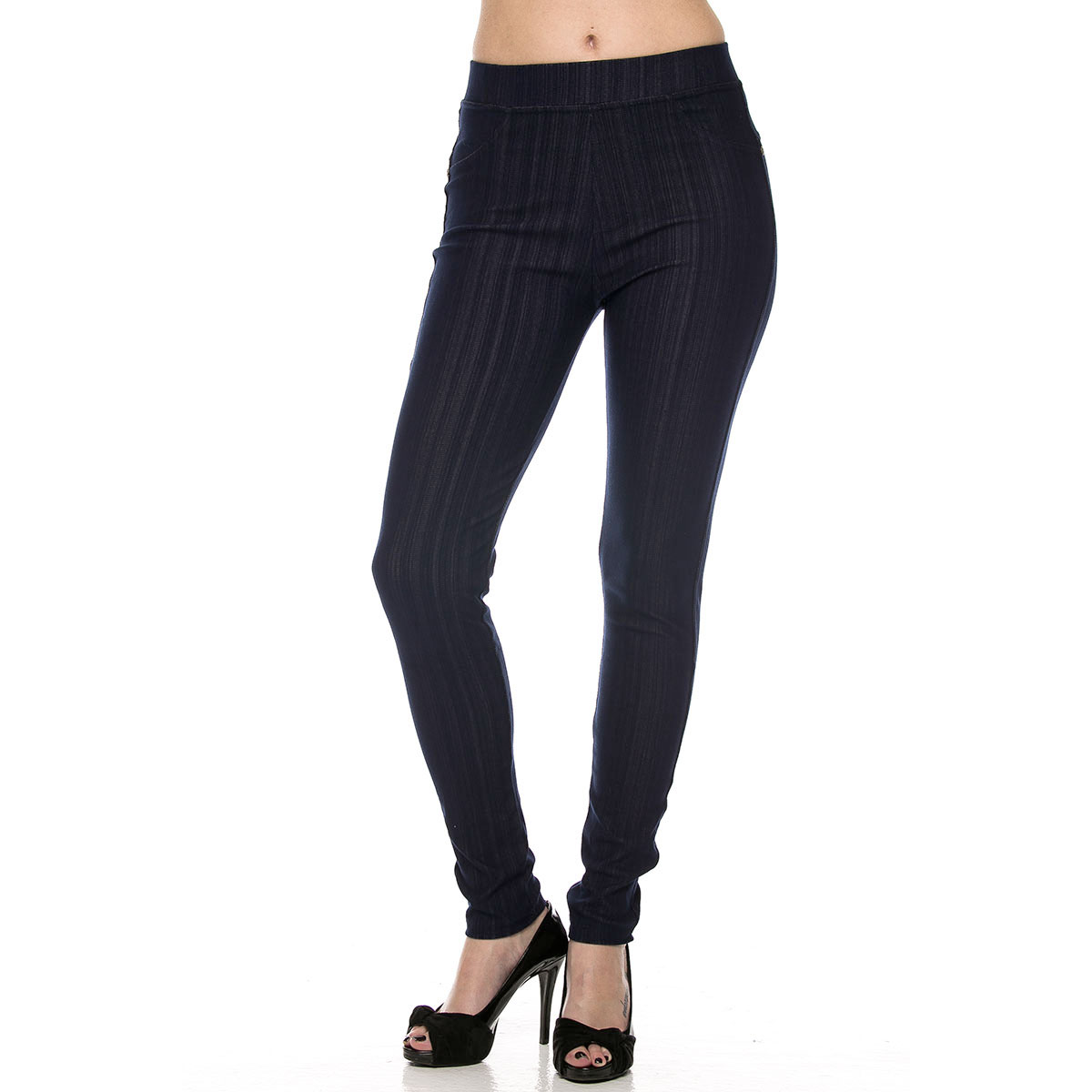 Denim Leggings - Ankle Length w/ Back Pockets J04