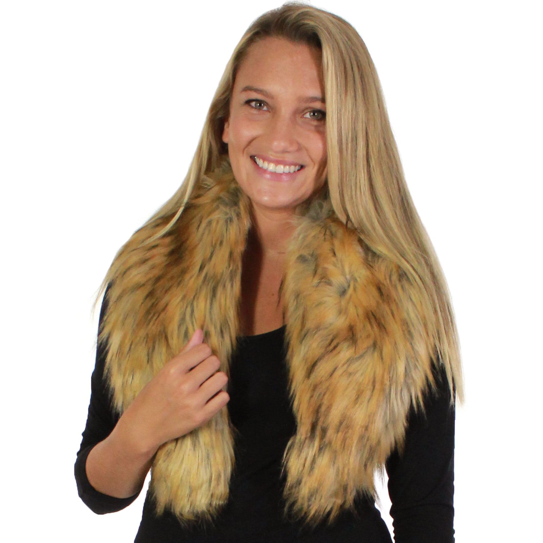 Oblong Scarves - Faux Fur Collar 8830
