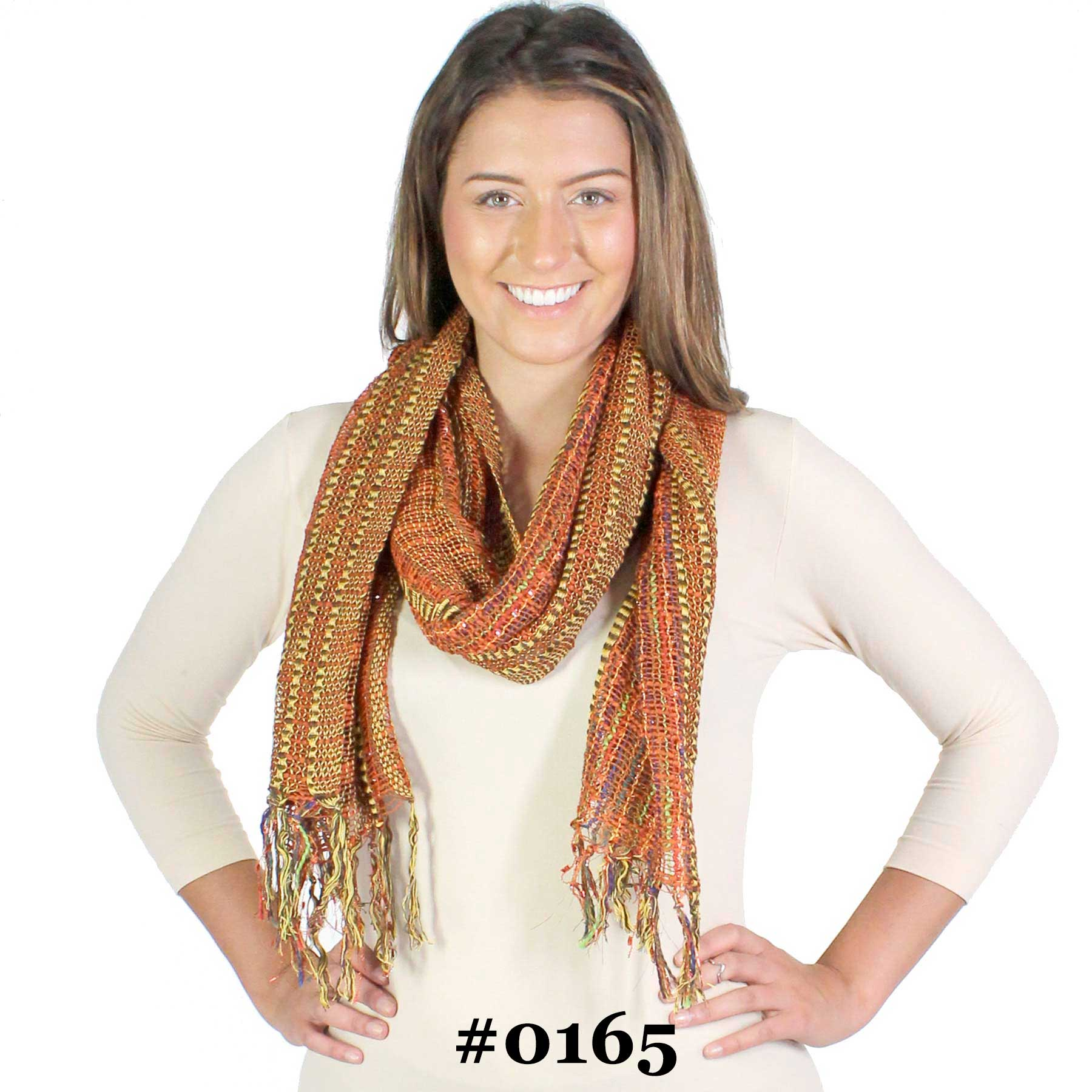 Oblong Scarves - Woven Multi Color 0165