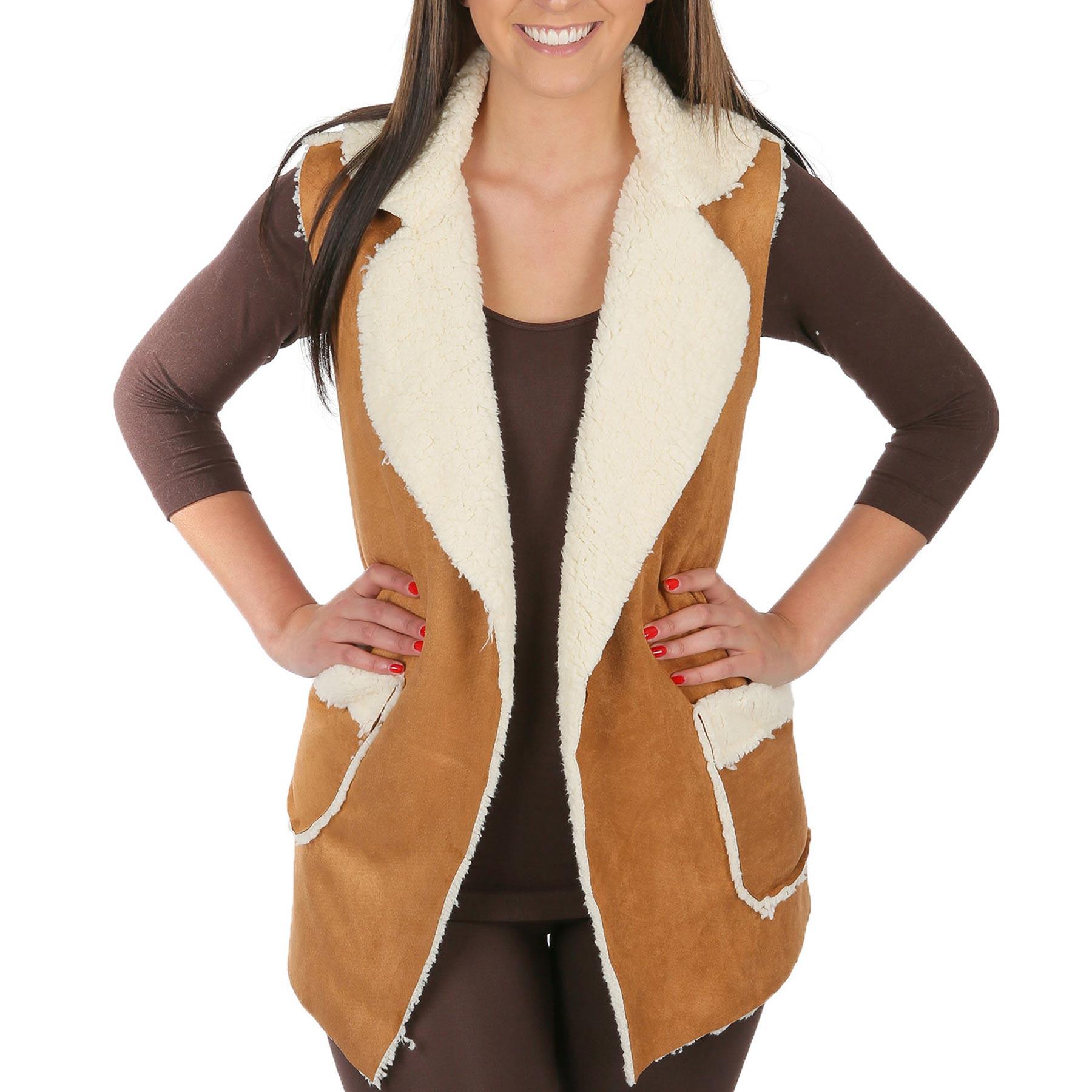 Vests - Faux Shearling w/ Pocket 8870