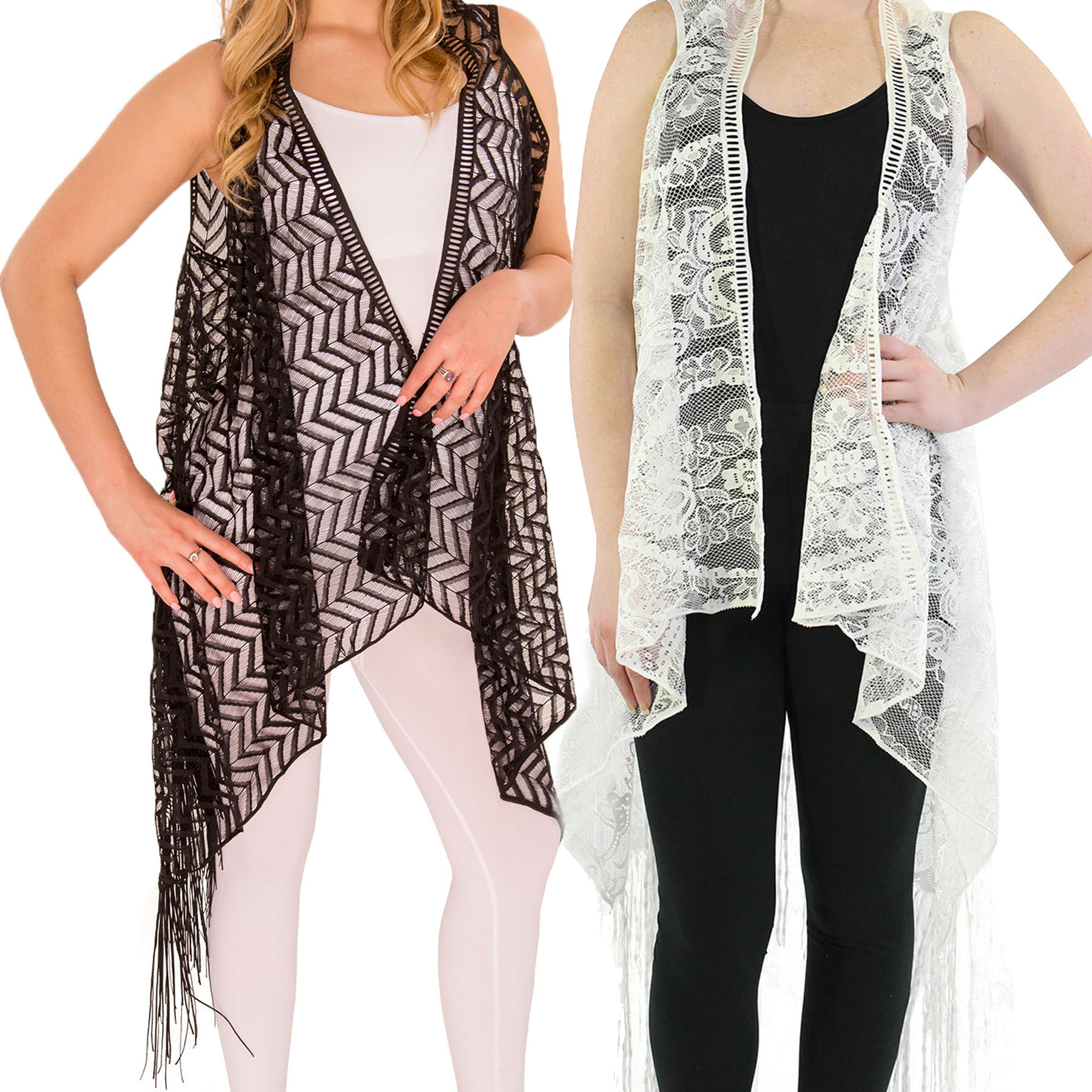 Vests - Lace w/ Fringe 1273 & 1274*