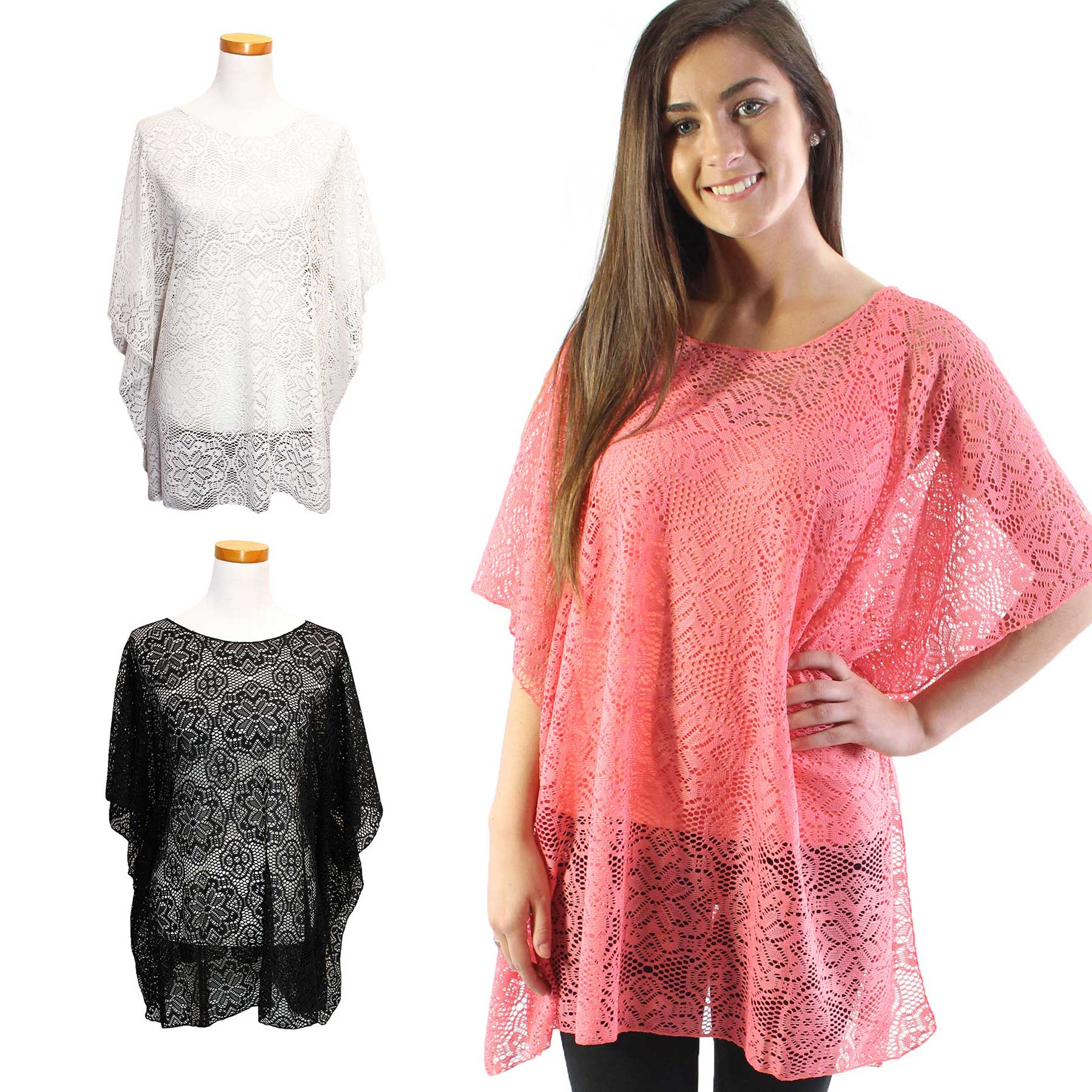 Poncho - Flower Lace 1203