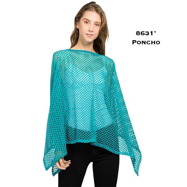 Poncho - Mesh Cold Shoulder 8631