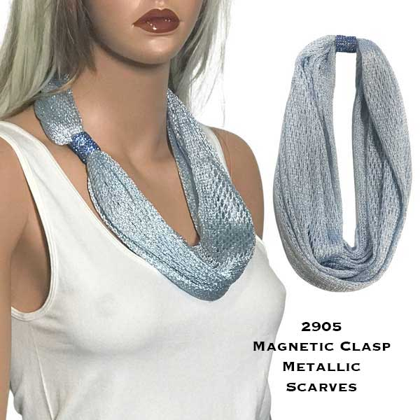 Metallic Scarf with Magnetic Clasp 2905