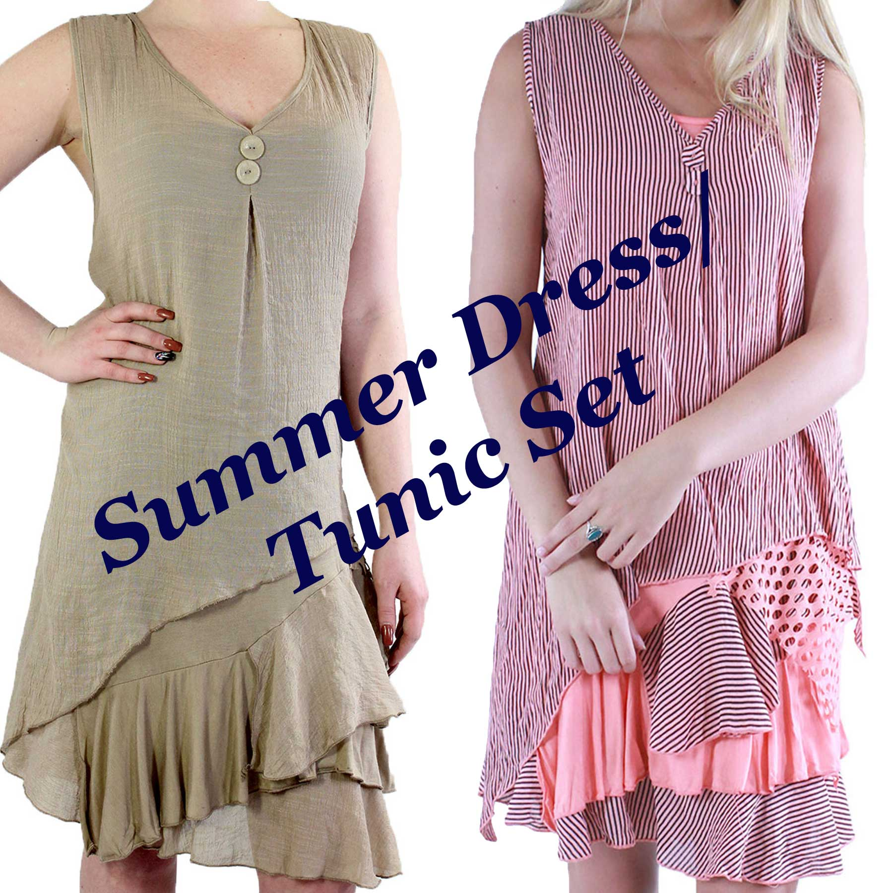 Summer Dress/Tunic Set