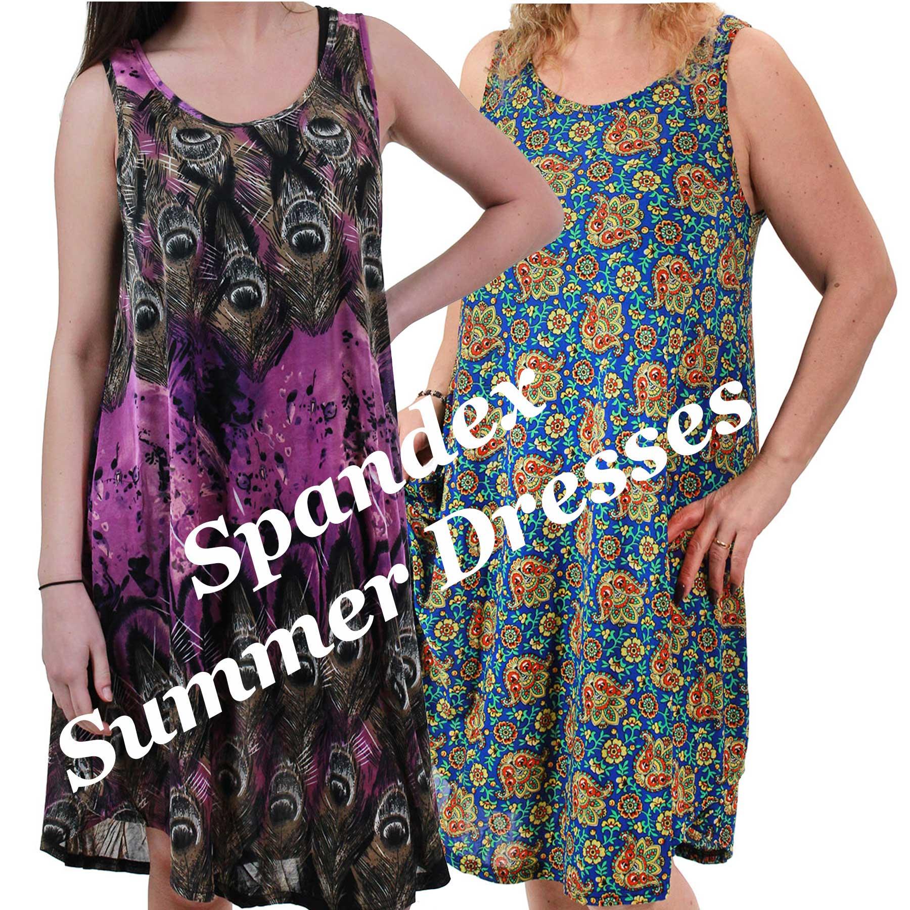 Summer Dresses - Spandex Blend