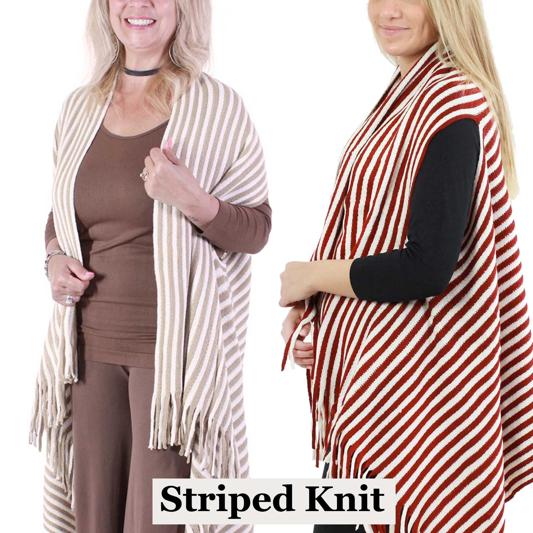 Vests - Knit Striped 9182