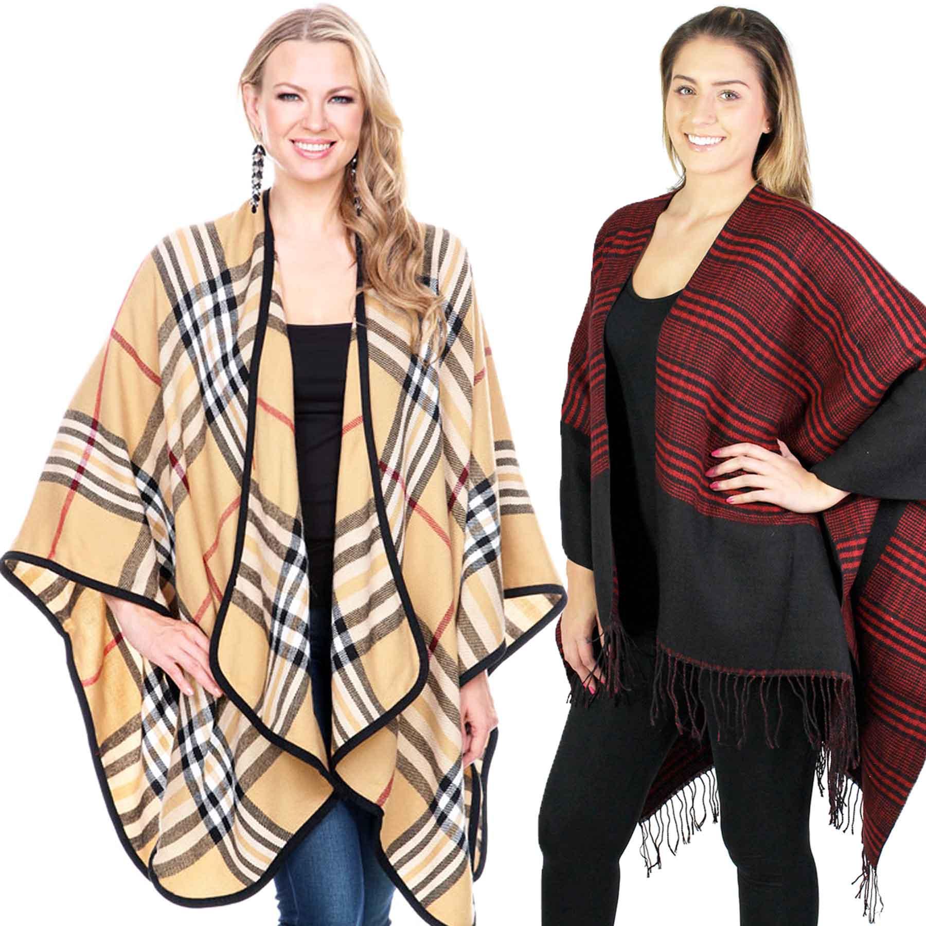 Winter Ruana - Plaids, Houndstooth, & Tweeds