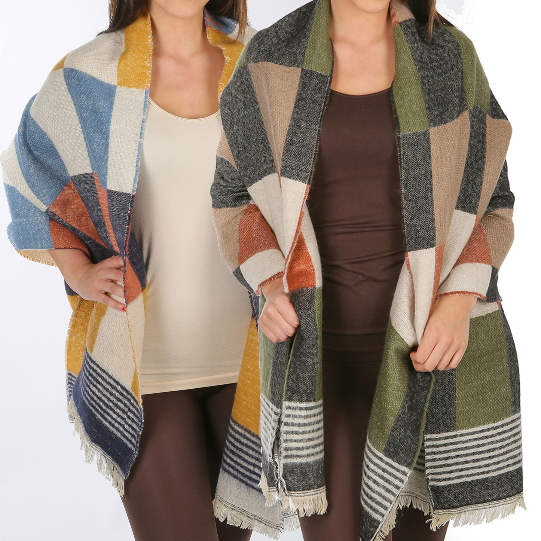 Winter Shawls - Plaids, Checks, & Herringbone