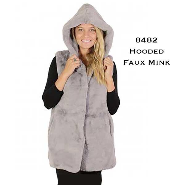 Vests - Faux Mink w/ Hood 8482