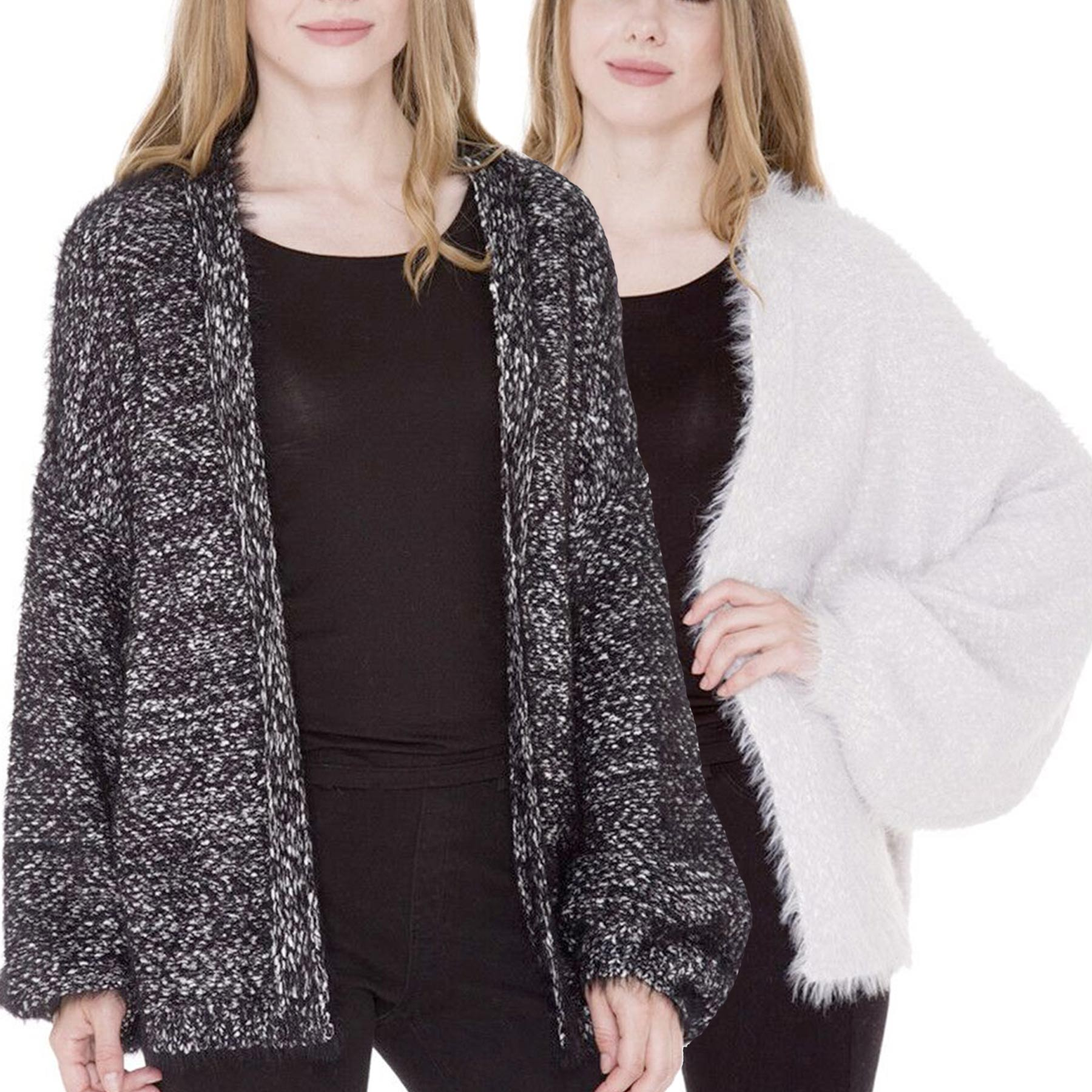 Sweater Cardigan - Furry Eyelash Design JP969