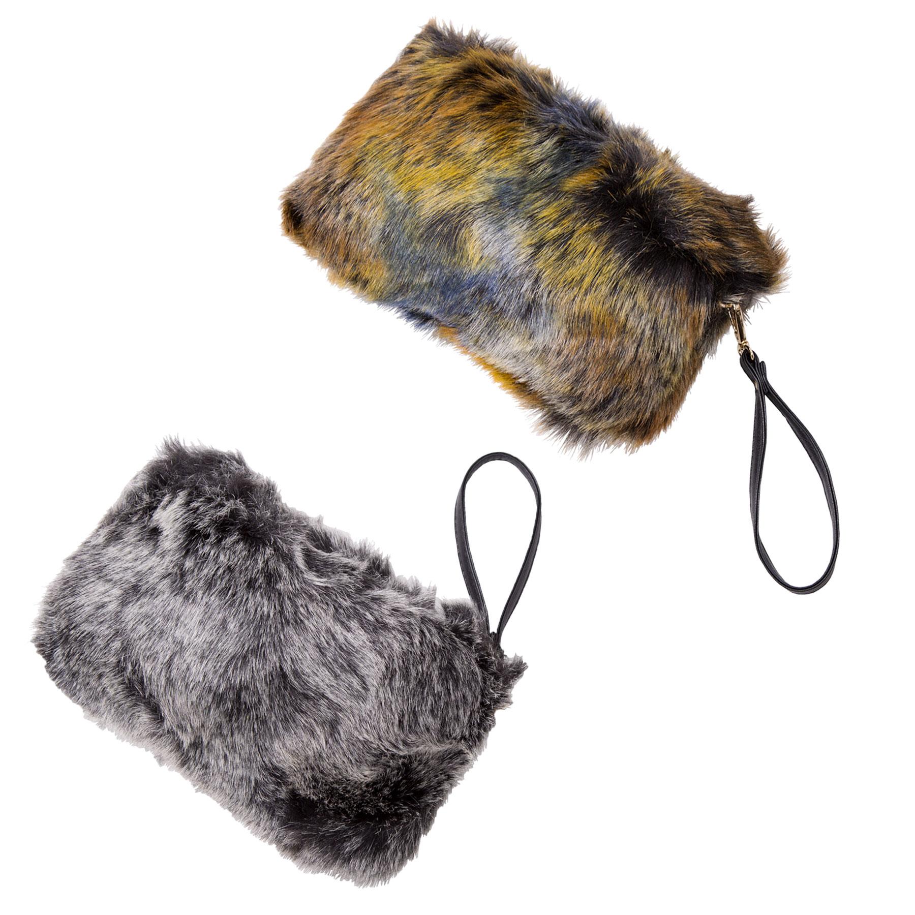 Faux Fur Wristlets JBG040