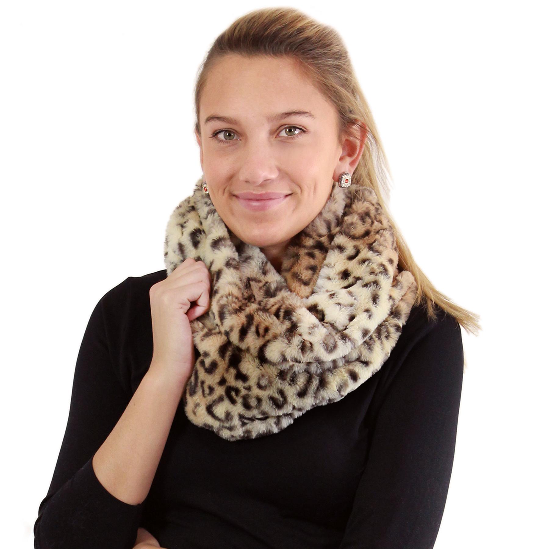 Infinity Scarves - Leopard Faux Fur 9185 & 9188