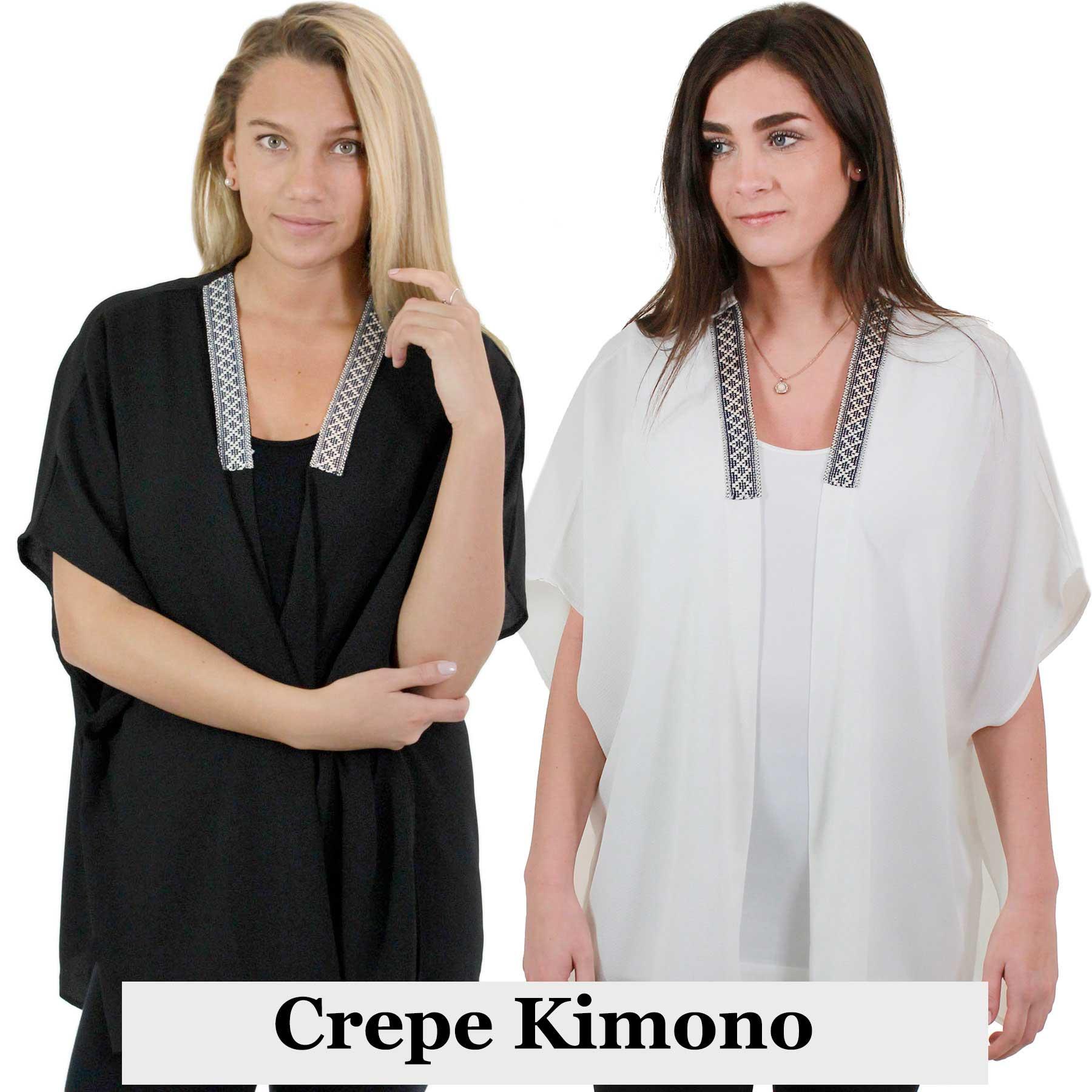 Crepe Kimono - Collar Accent 1213