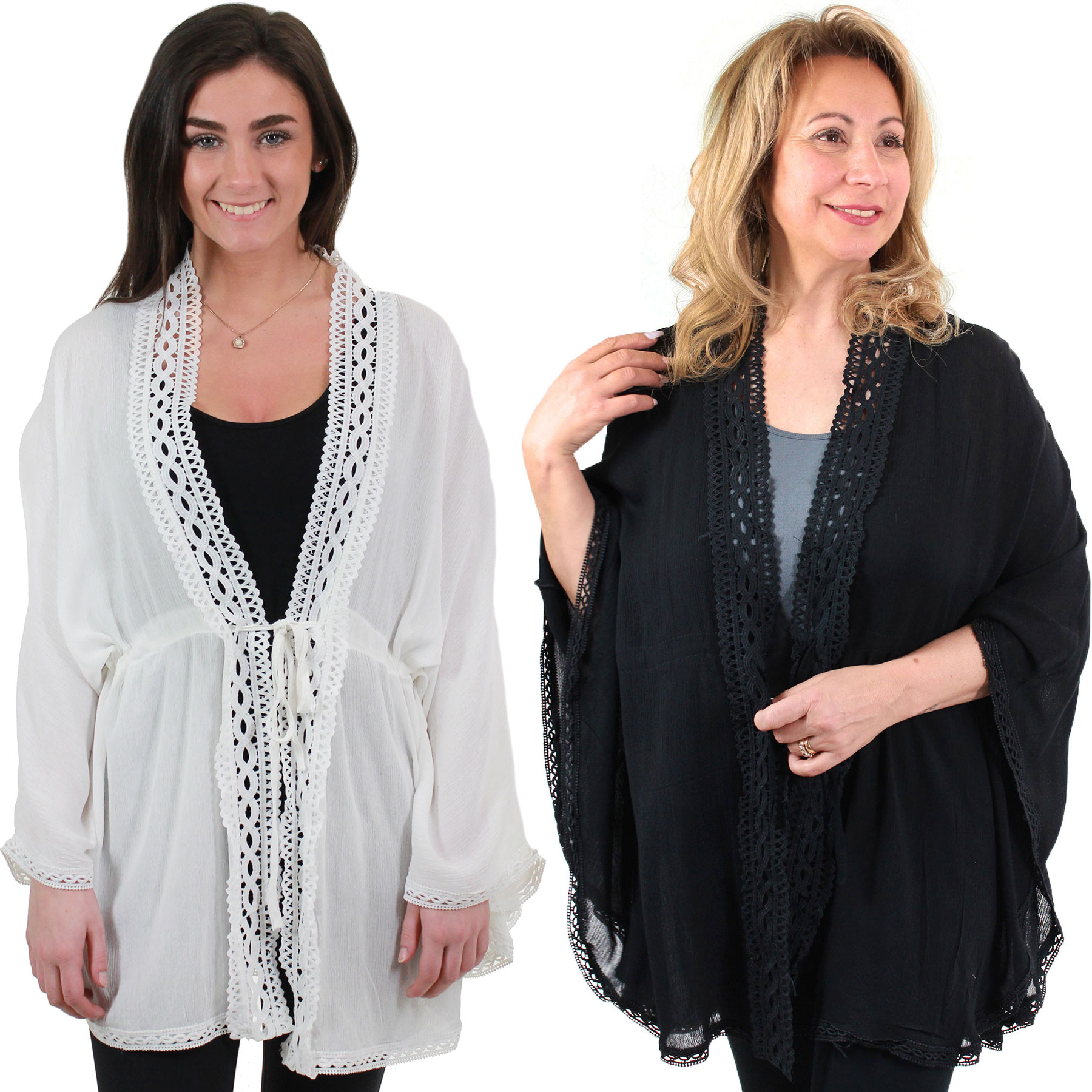 Kimono - Solid with Crochet Border 9621