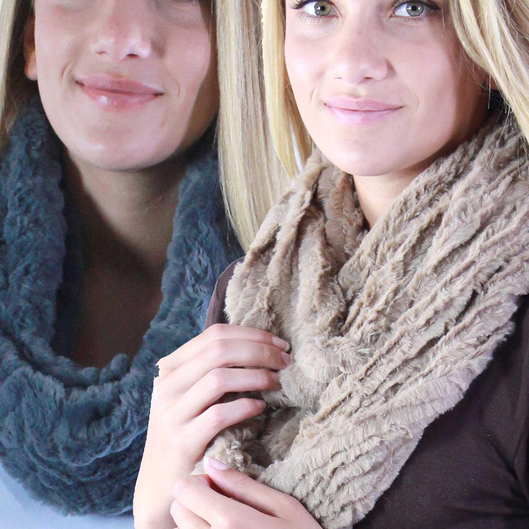 Faux Fur Infinity Scarves