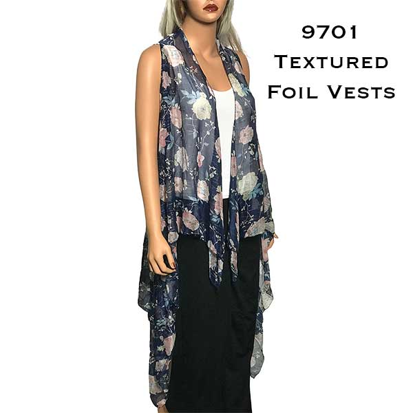 Vests - Floral with Textured Foil 9701