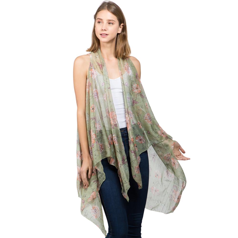 Vests - Floral with Textured Foil 9701