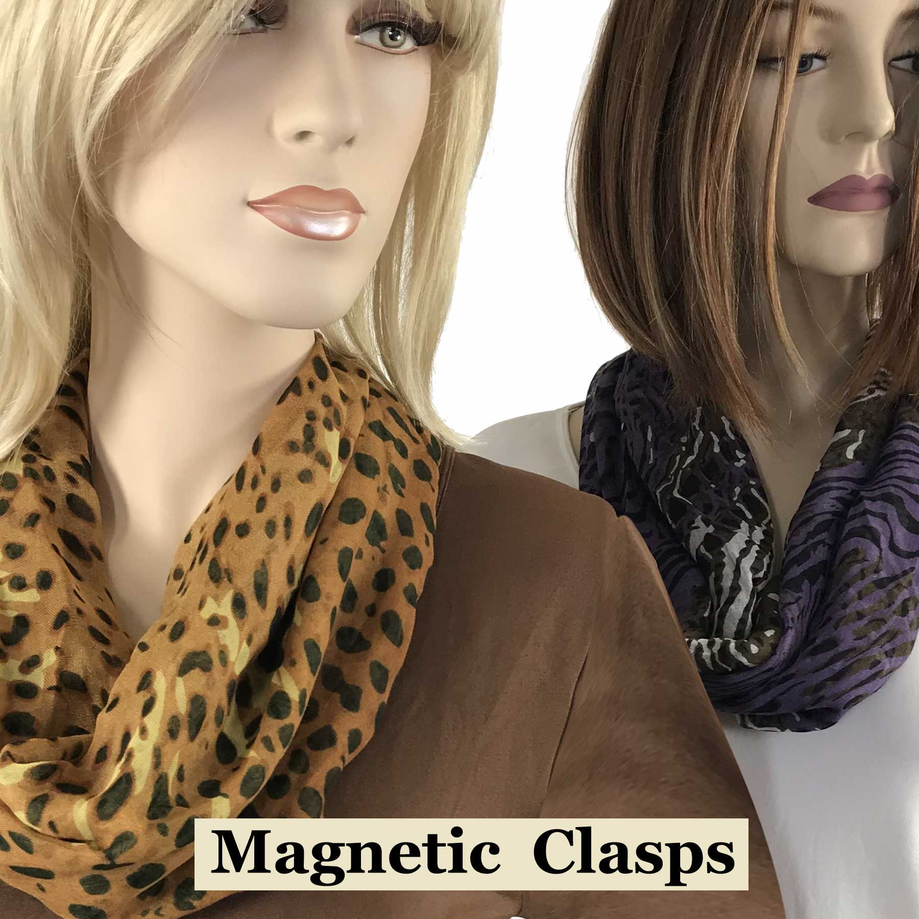 Magnetic Clasp Scarves (Cotton Touch)