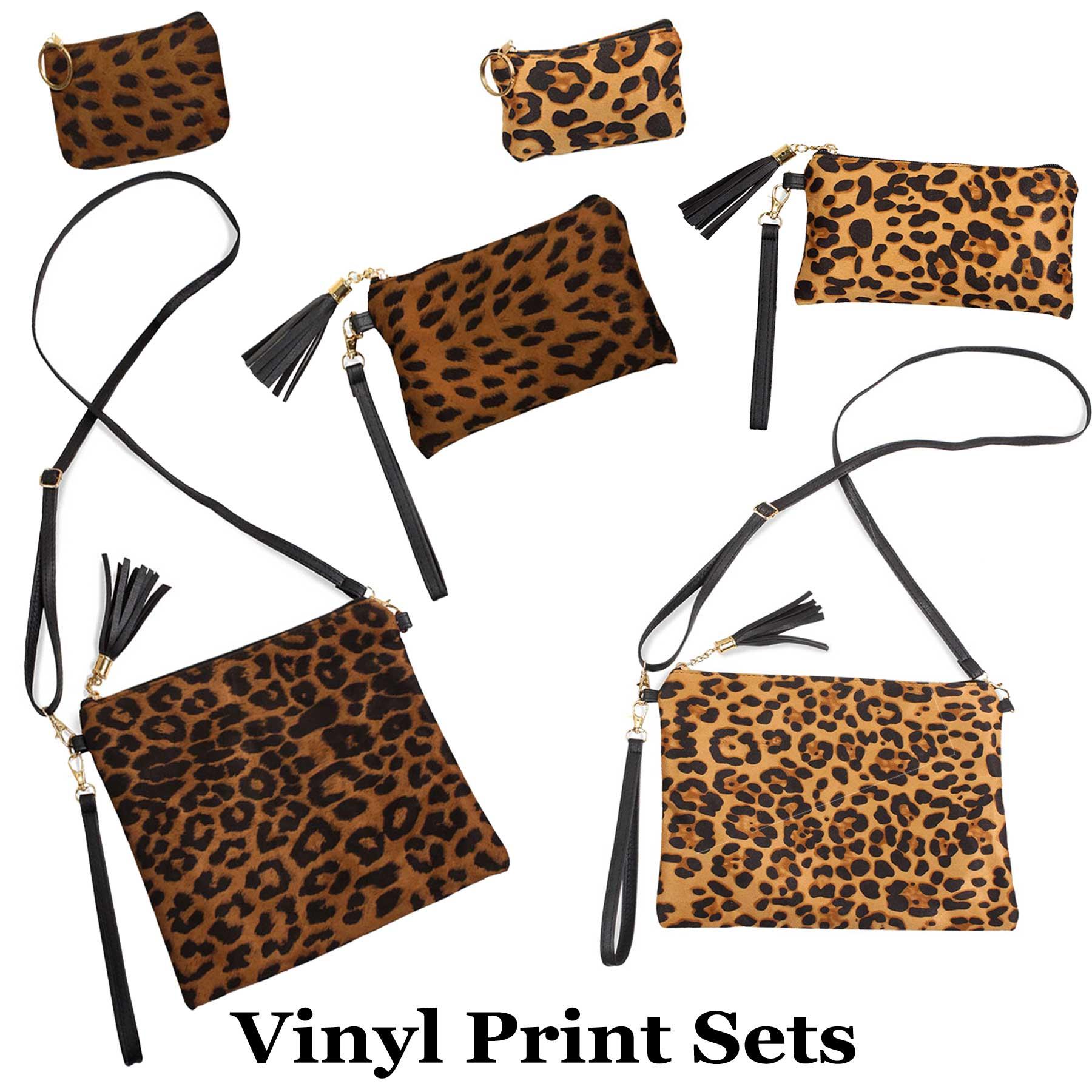 Suede/Vinyl Crossbody Bags, Wristlets+Coin Purses
