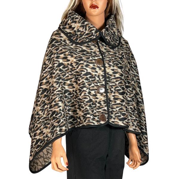 Poncho - Leopard w/ Coconut Button 9391