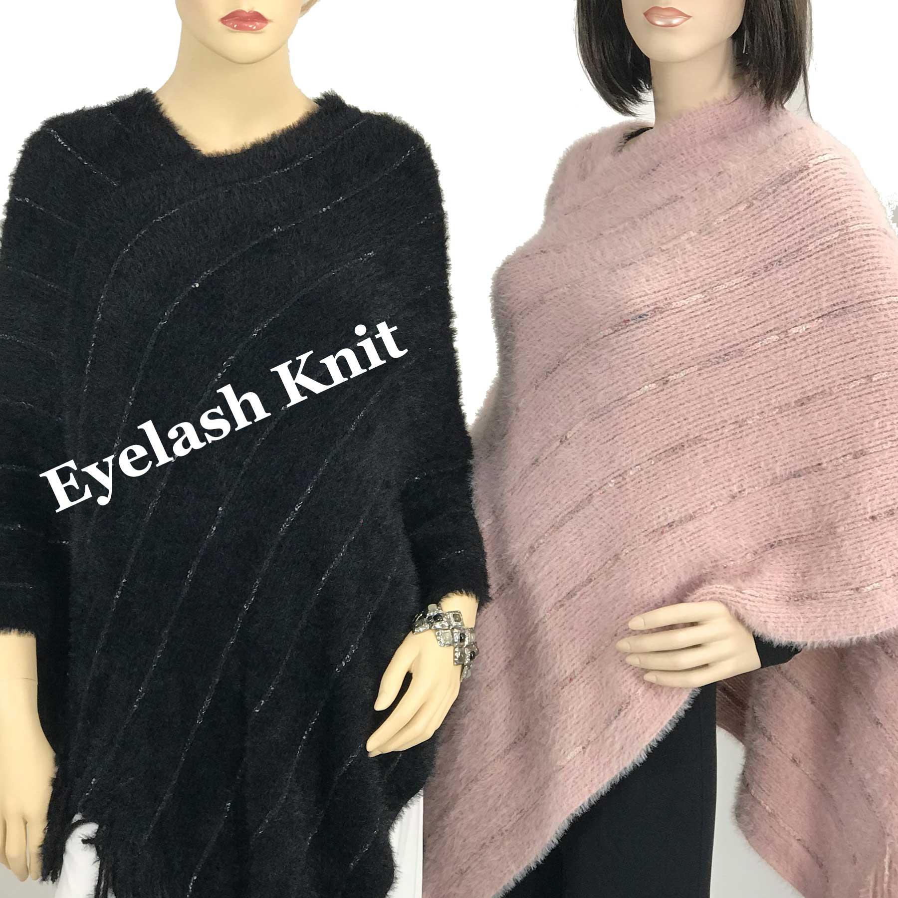 Poncho - Eyelash Knit 9467