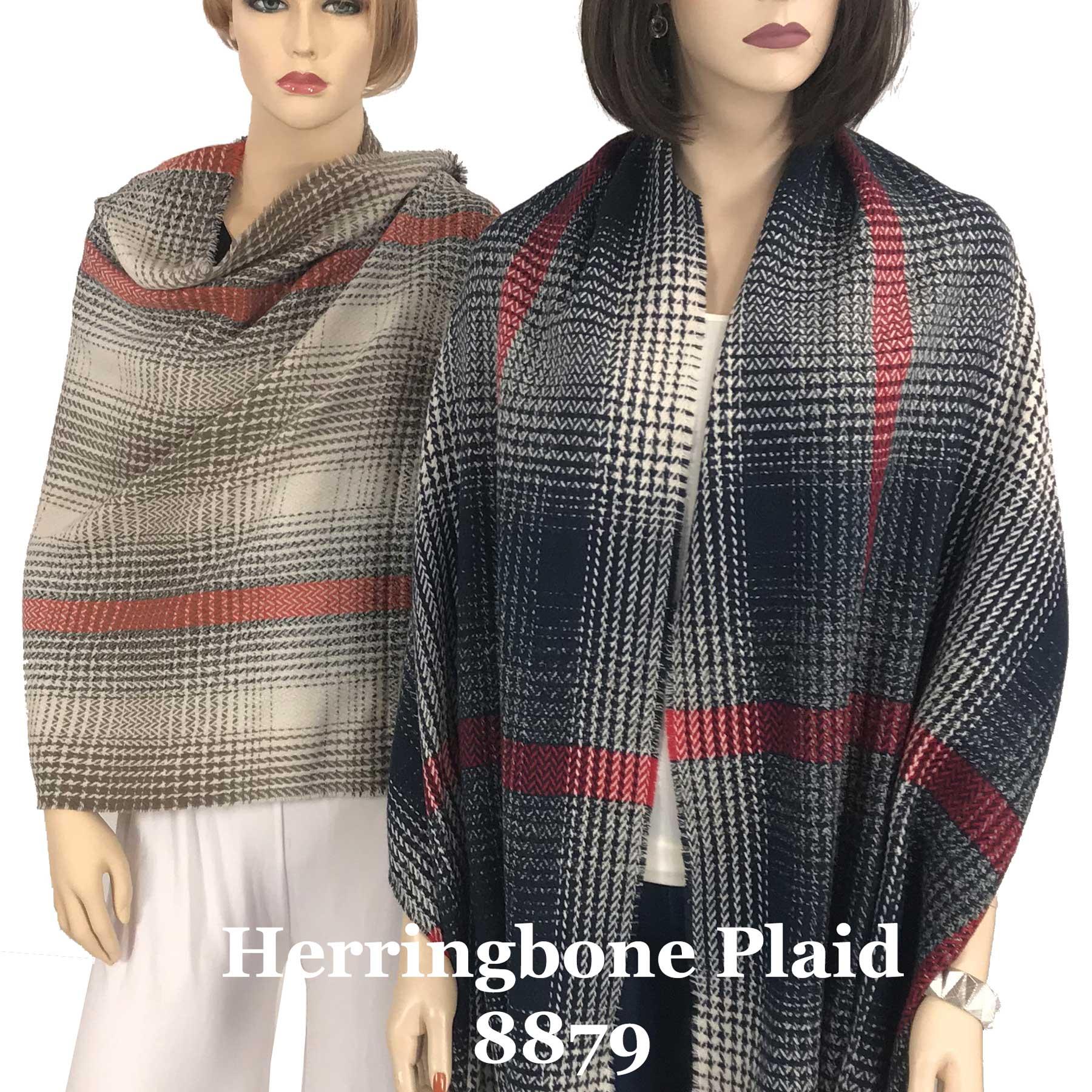 Oblong Shawls - Herringbone Ombre 8879