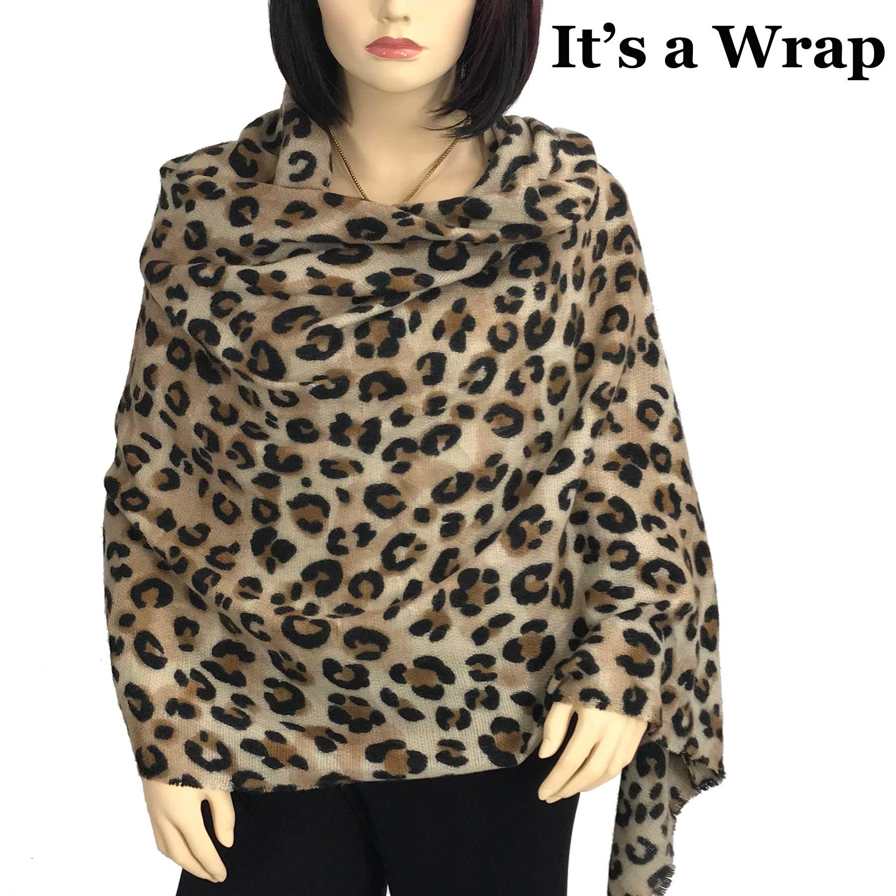 Shawl/Wrap - Brushed Leopard 9474*