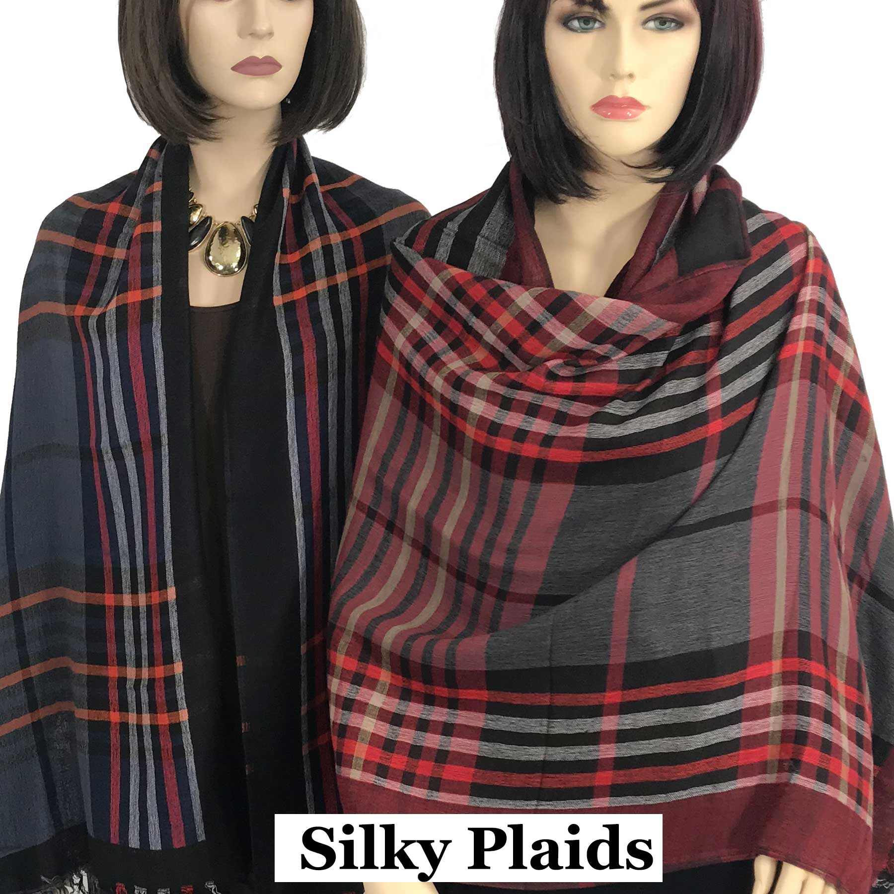 Oblong Scarves/Shawls - Plaid 9525