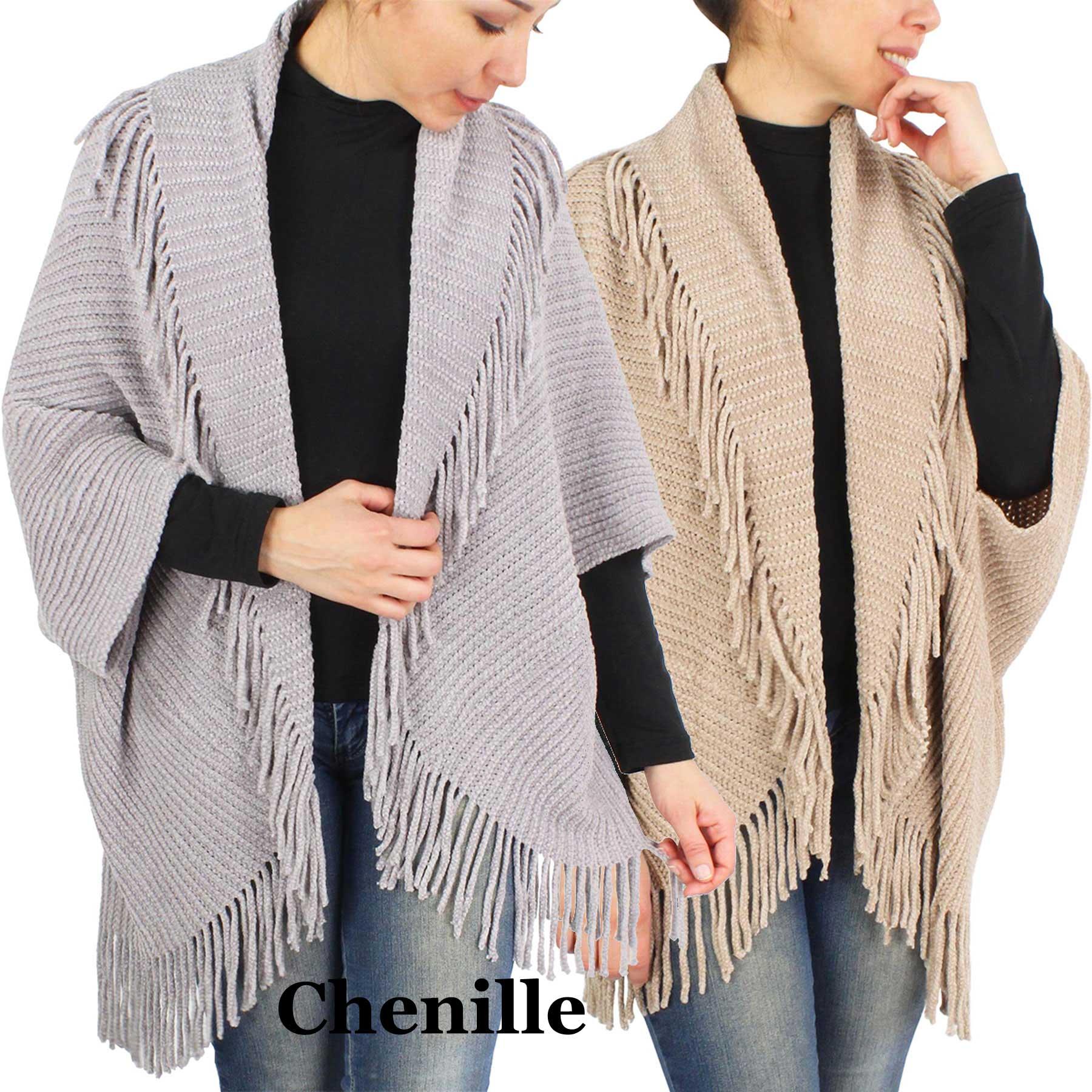 Shrugs - Chenille w/ Tassels 9513