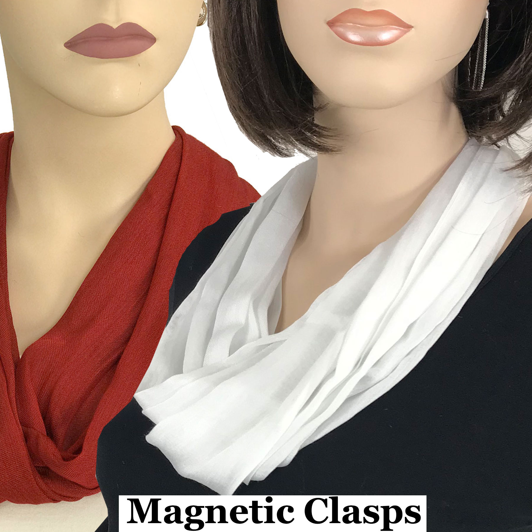 Magnetic Clasp Scarves (Cotton/Silk 100)