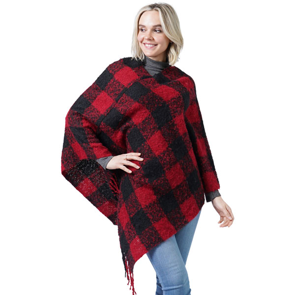 Poncho - Buffalo Check 9575