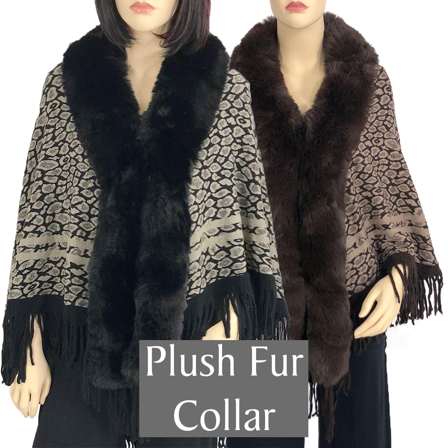 Capes - Leopard w/ Faux Rabbit Fur 98B7