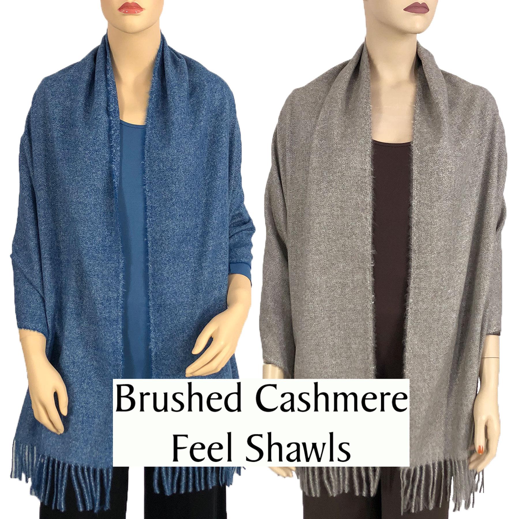 Brushed Cashmere Feel Shawls