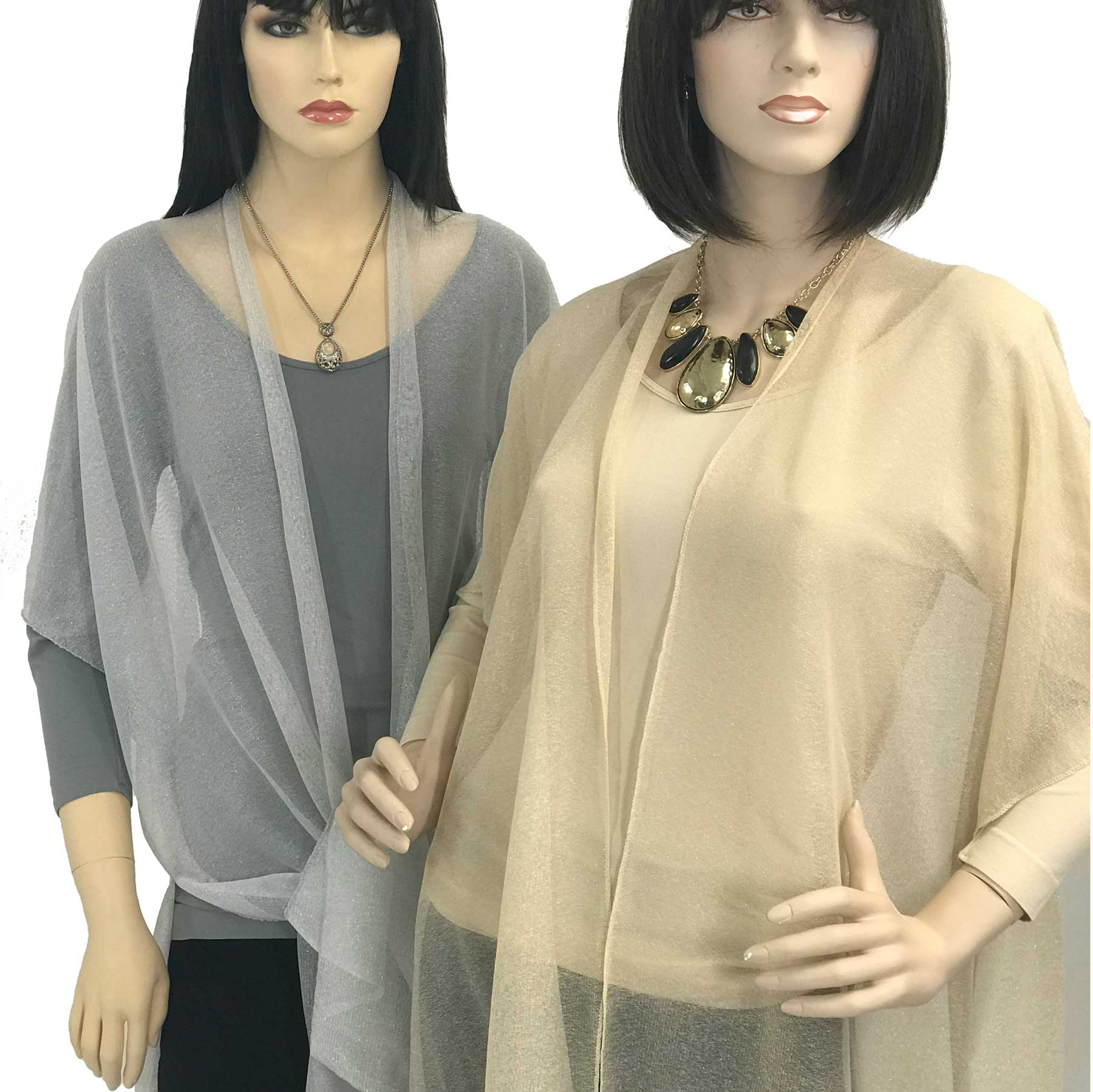 Kimono Vests - Lurex Sheer 9647