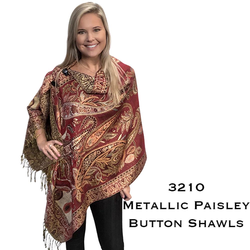 Button Poncho/Shawl - Metallic Prints 3210