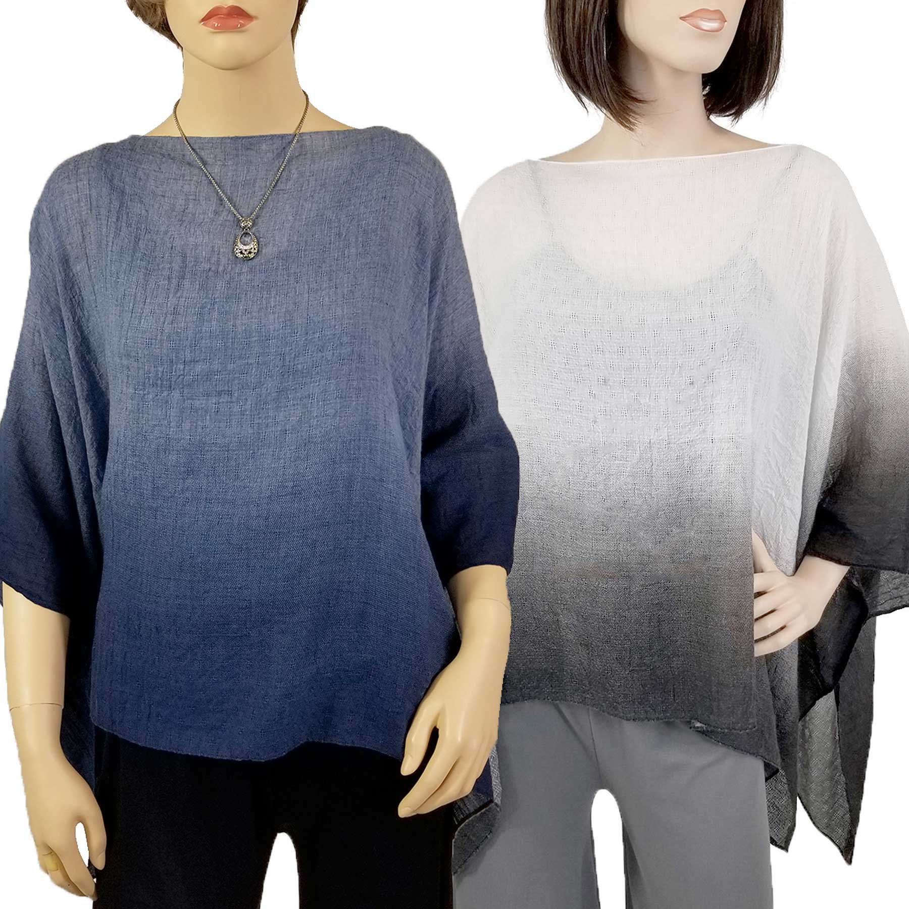 Ombre Poncho - Cotton Feel 1582