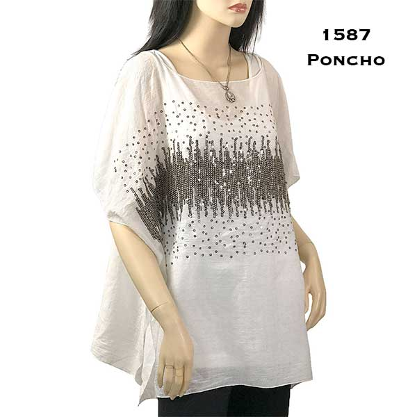 Sparkle Poncho - Cotton Feel 1587