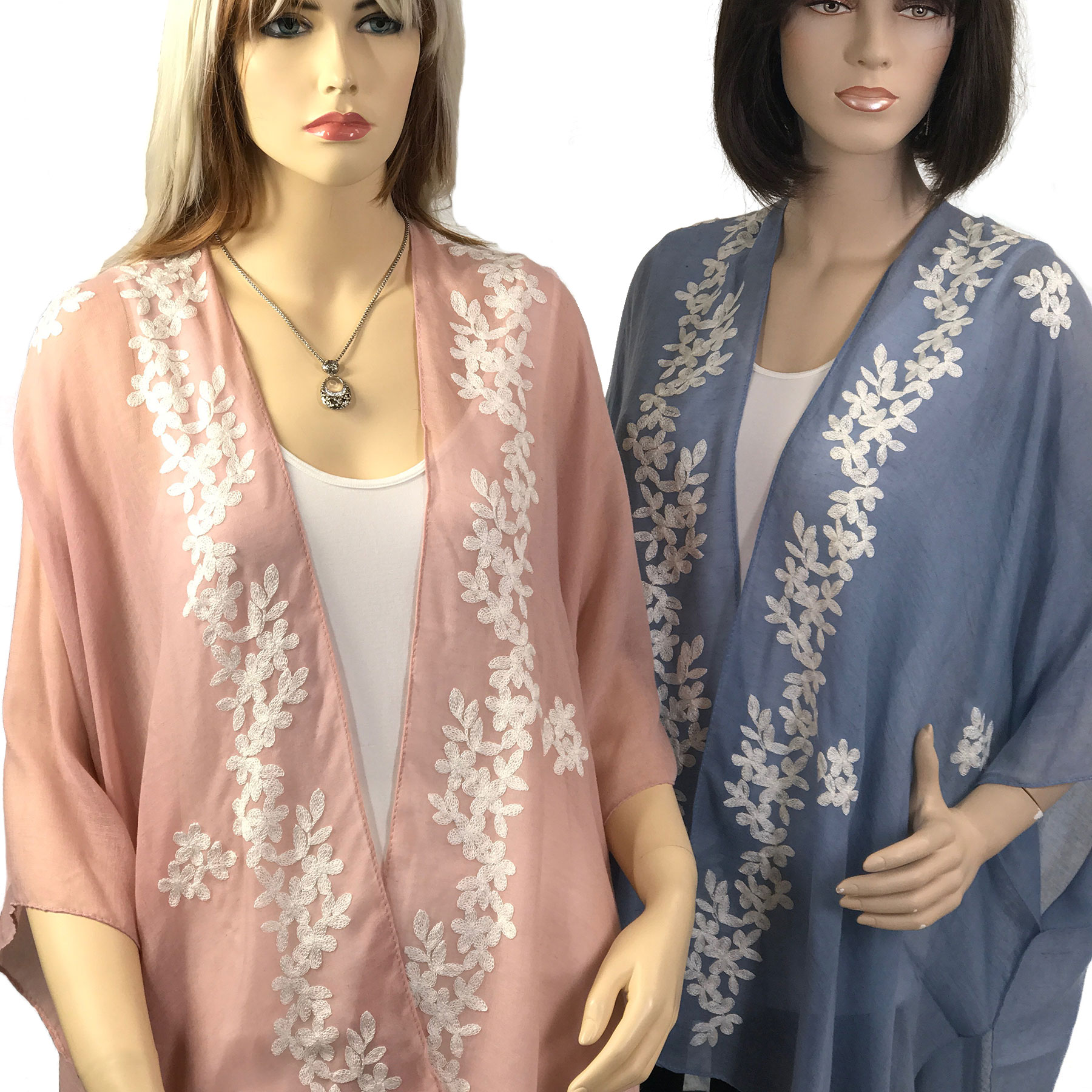 Kimono - Embroidered Floral 901