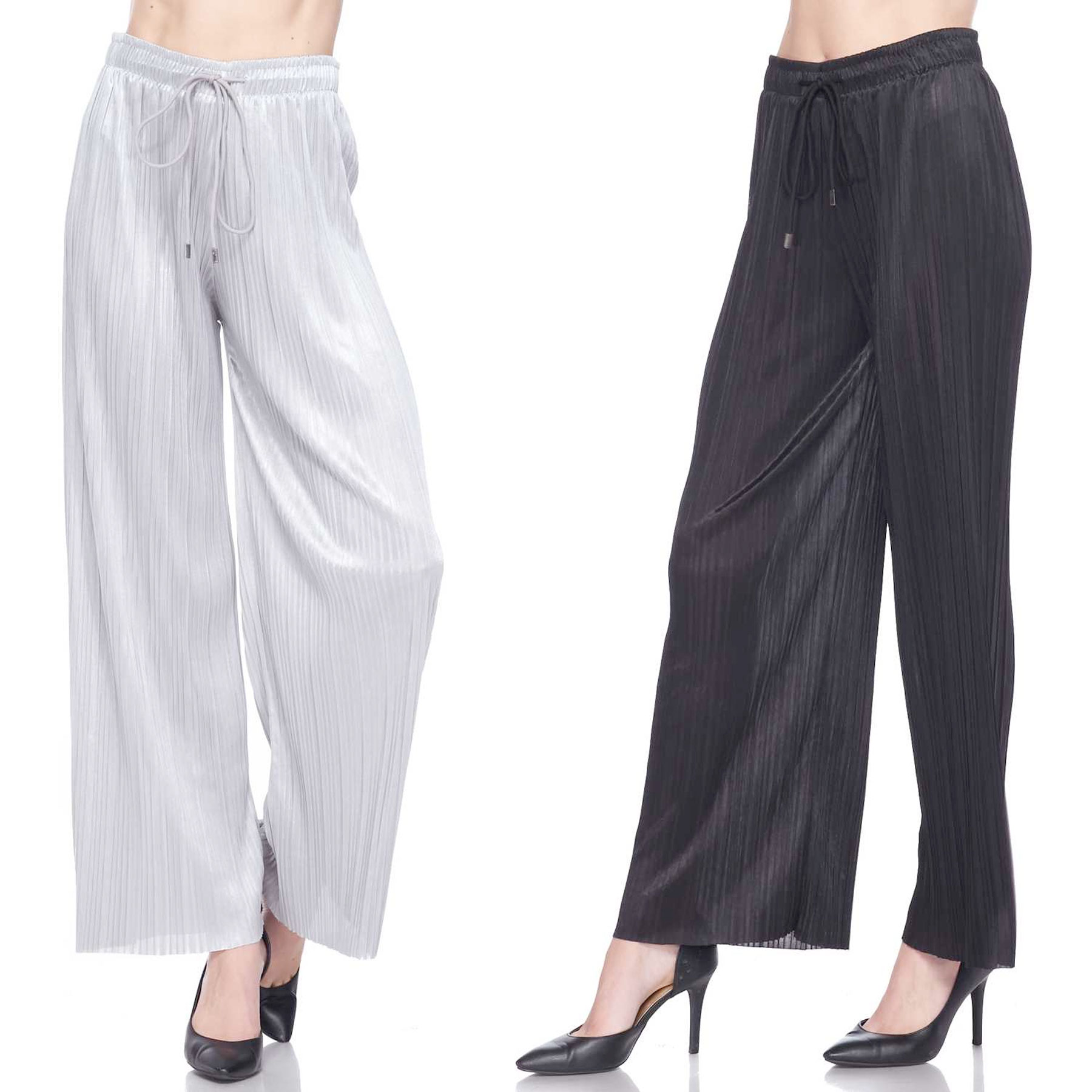Pleated Wide Leg Pants - Shimmer